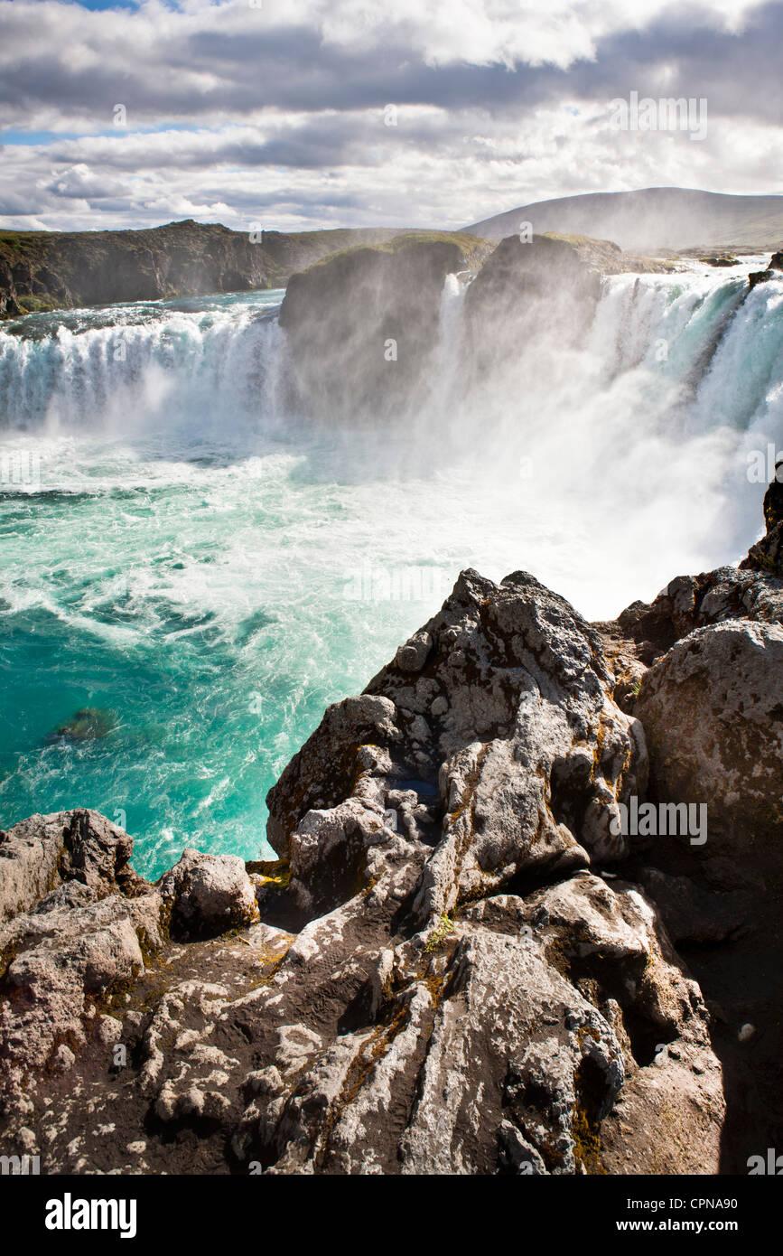 Godafoss Falls, Iceland - Stock Image