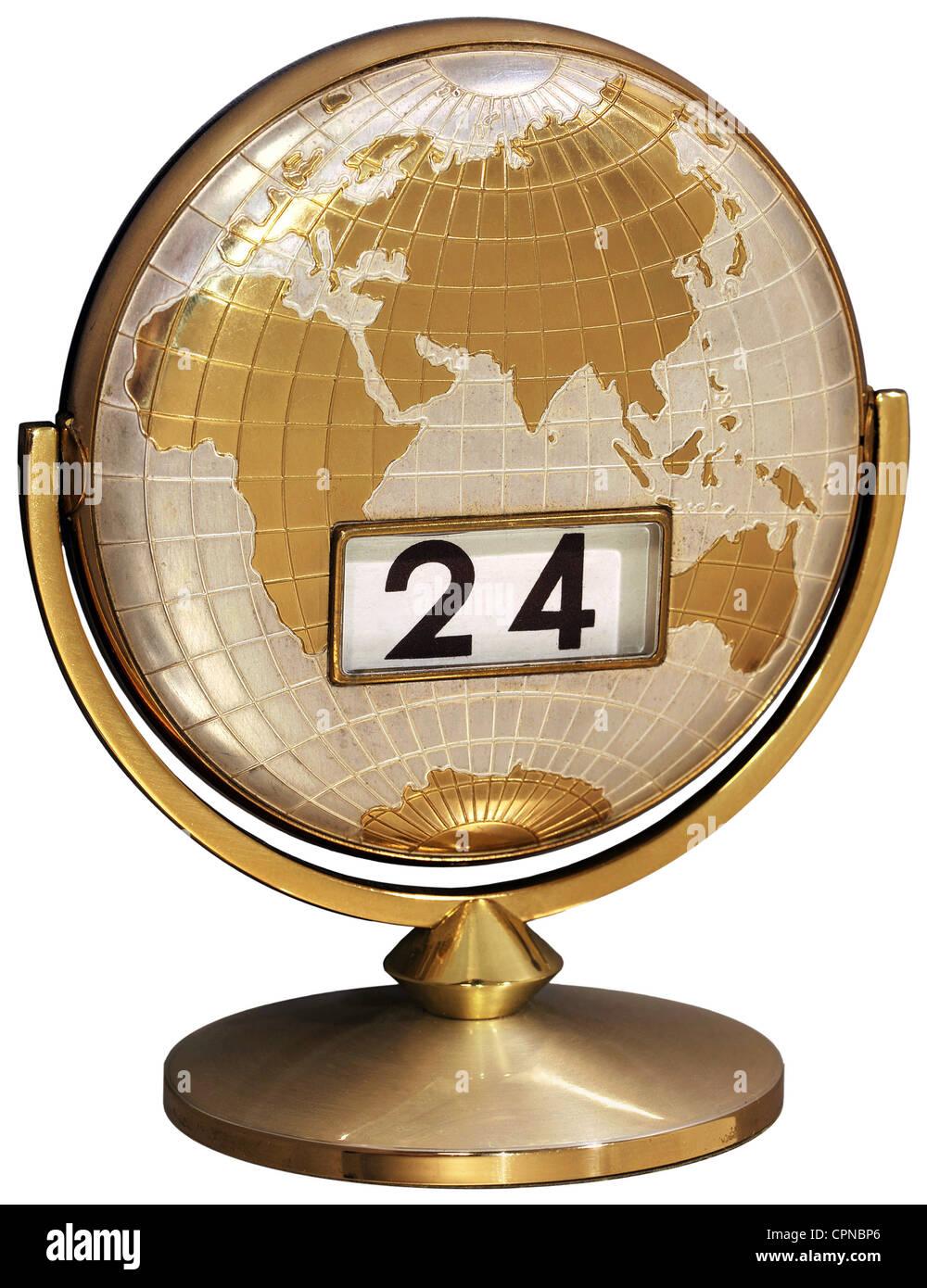 Calendar elegant desk calendar with calendar indication germany calendar elegant desk calendar with calendar indication germany 1963 date dates globe globes world map map of the world gumiabroncs Gallery