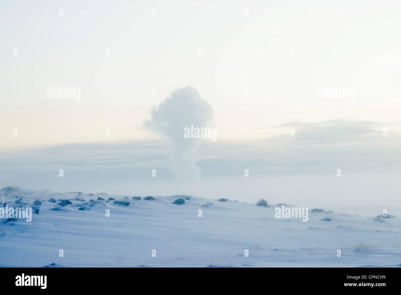 Geothermal steam, Reykjanes Peninsula, Iceland - Stock Image