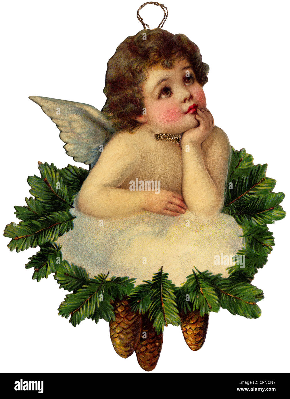 christmas christmas tree decorations christmas angel scrap picture germany circa 1900 additional rights clearences na