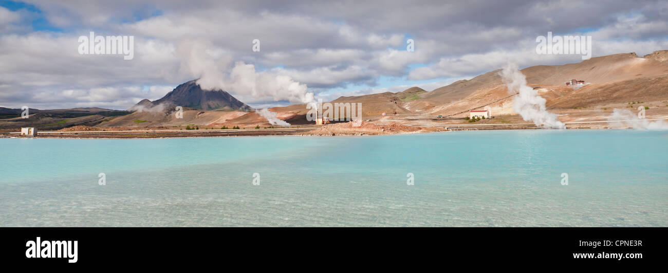 Geothermal power station, Iceland - Stock Image