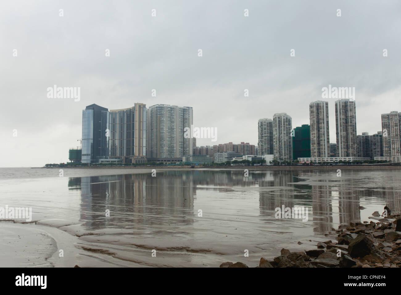 Developed coast, Shandong province, China - Stock Image
