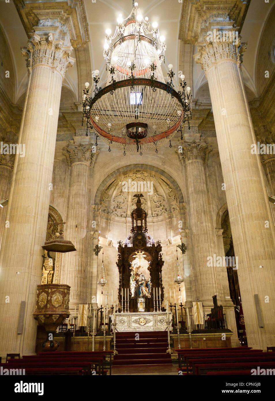Inside the Church of Santa Maria la Mayor Ronda Malaga Province Andalucia Spain - Stock Image