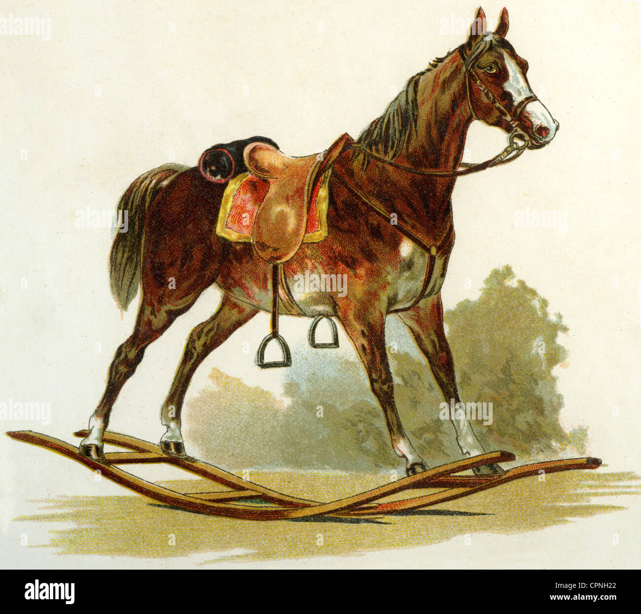 Antique Rocking Horse Illustration High Resolution Stock Photography And Images Alamy