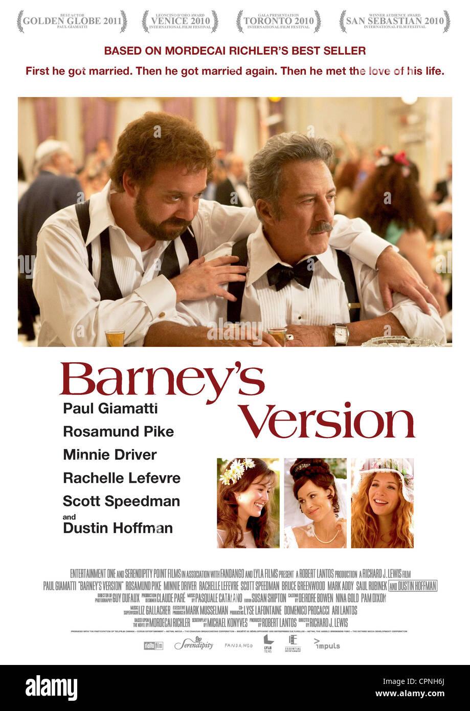 Barney's Version - Stock Image