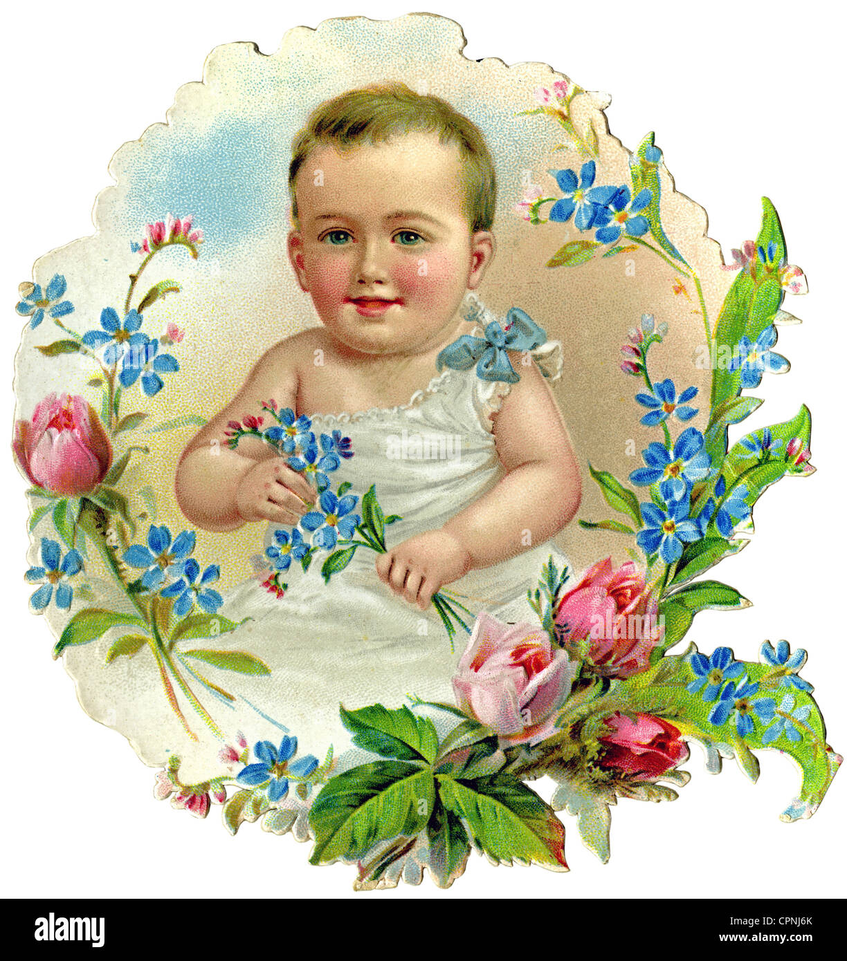 kitsch/cards/souvenir, baby, scrap-picture, Germany, circa 1900, Additional-Rights-Clearences-NA - Stock Image