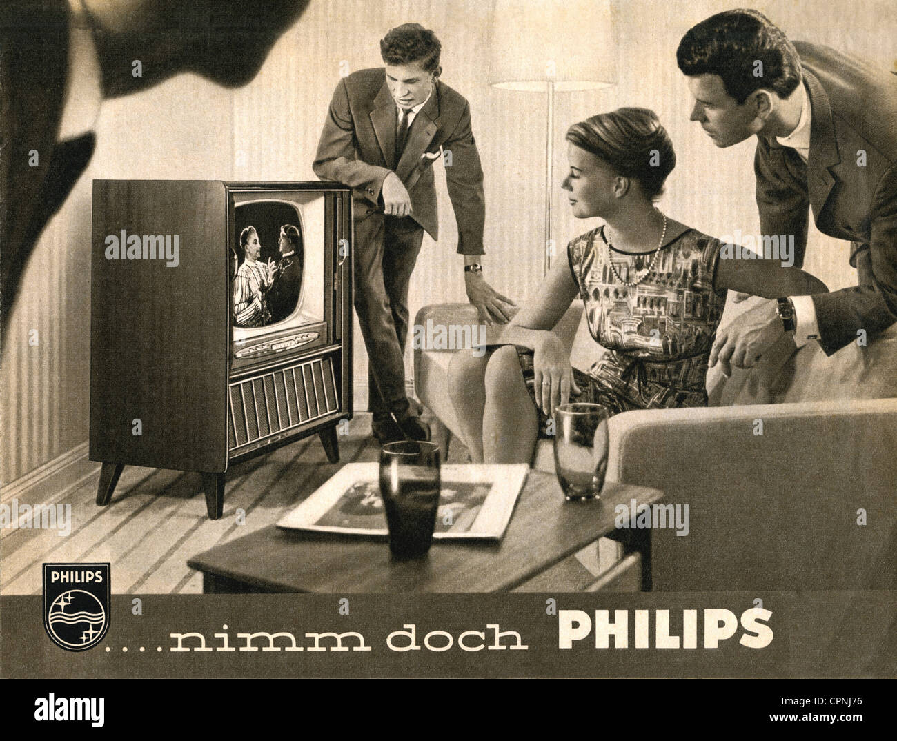 broadcast, television, 'Nimm doch Philips' (Take Philips), television set version: Philips Leonardo special - Stock Image