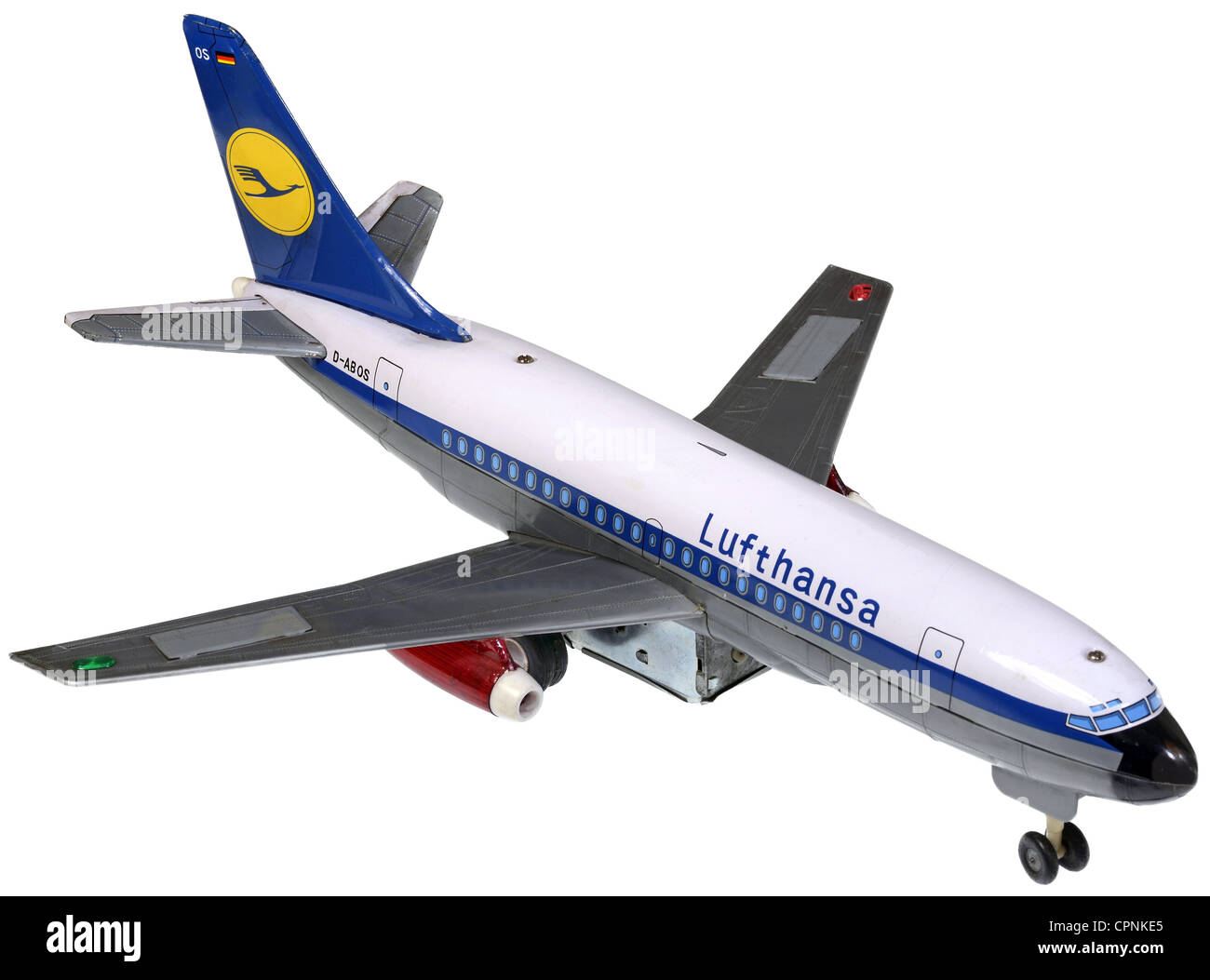 toys, model aircraft, Lufthansa, Boeing 737-100, producer: Modern Toys, Japan, circa 1969, model plane, model aircraft, Stock Photo