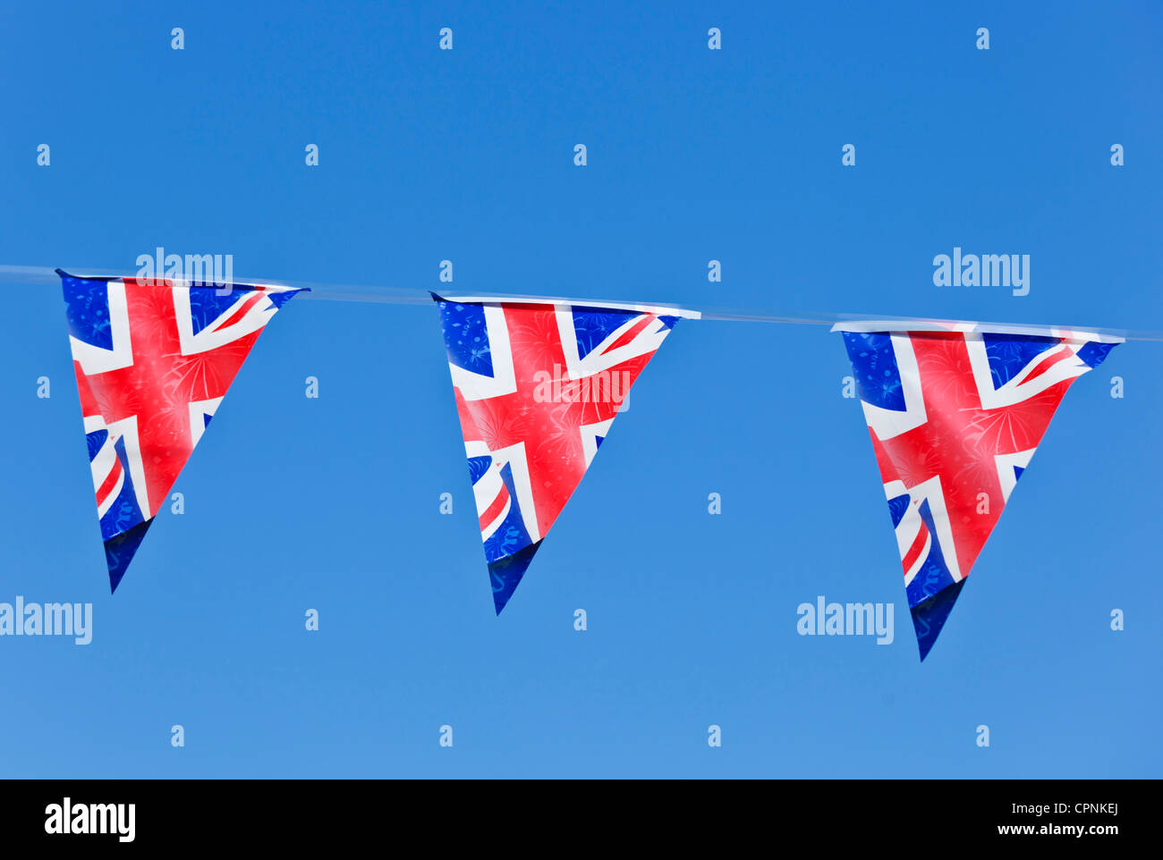 Union Jack Bunting - Stock Image