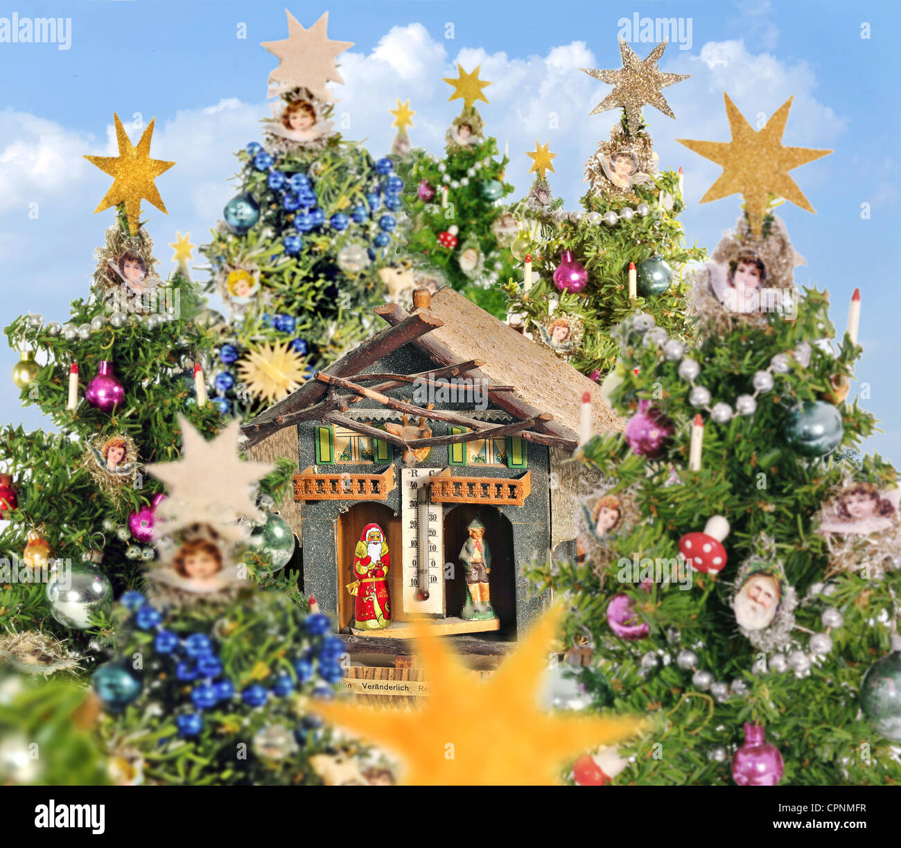Christmas Weather.Christmas Christmas Weather Vintage Weather House In The