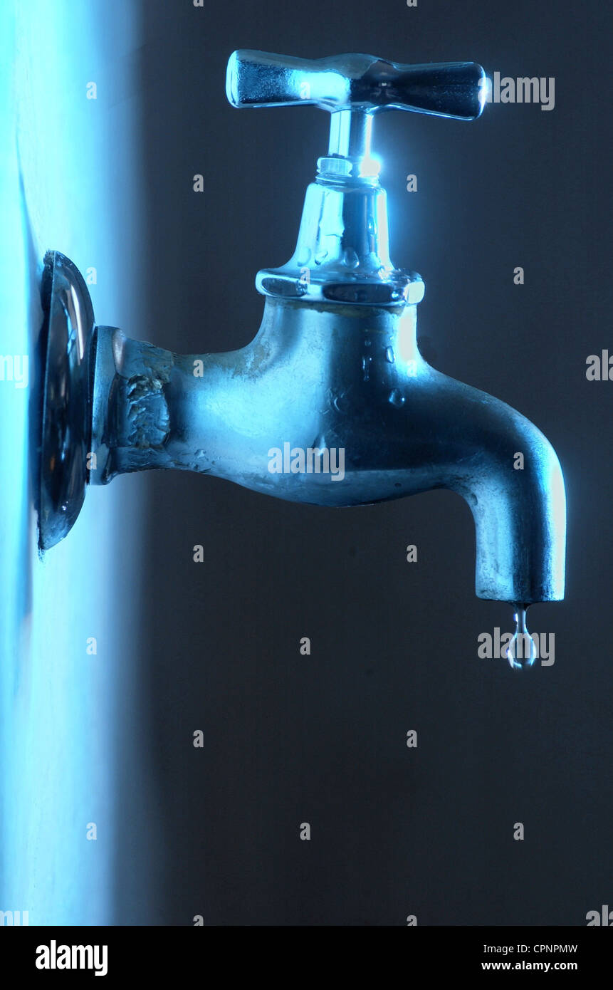 water, old tap, drip, Germany, waterdrop, symbol, symbols, clear tap ...