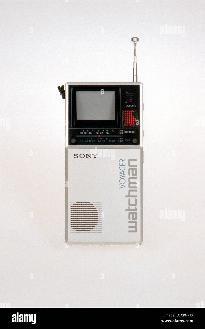This Is One Of The First Devices Stock Photos Simple Intercom Using Tree Transistors Broadcast Television Sony Watchman Voyager Pocket Sets Japan