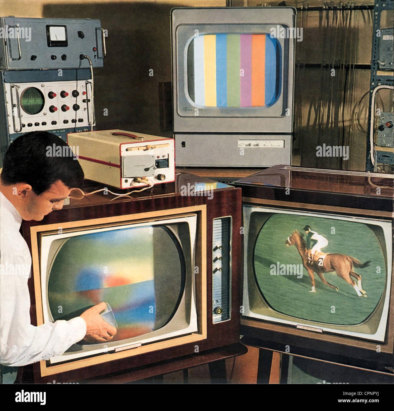 Broadcast Television Promotional Leaflet Colour TV System SECAM France Circa