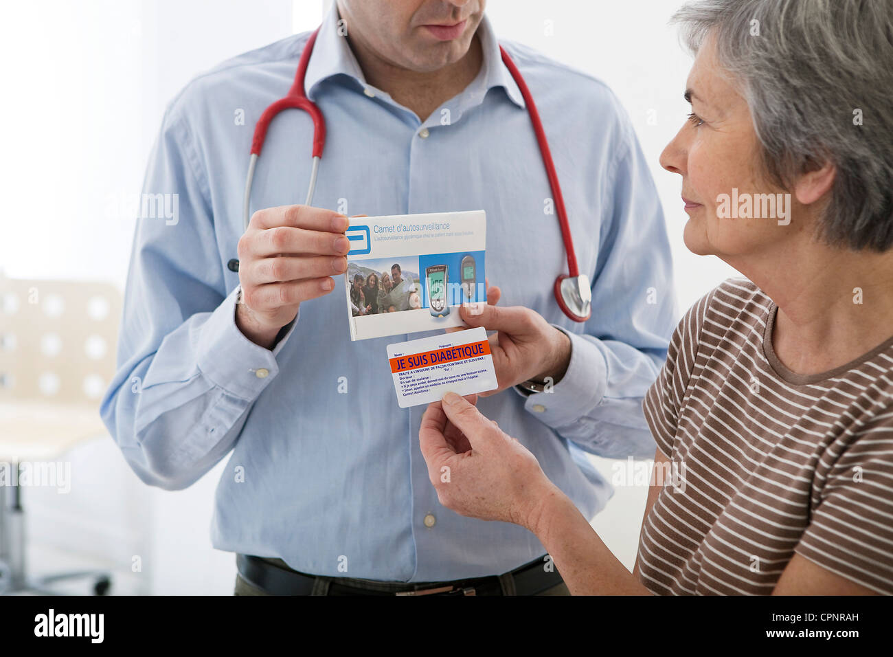 CONSULTING FOR DIABETES ELDERLY. - Stock Image