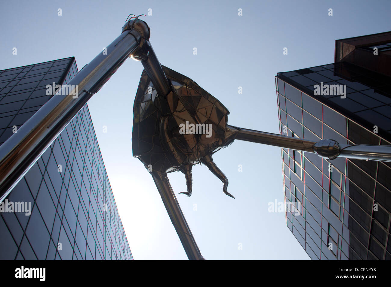 The Woking Martian Tripod.  H G Wells War of the Worlds creation brought to life by Michael Condron. - Stock Image