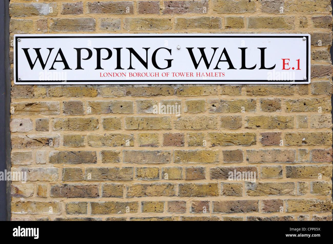 Wapping Wall, London Stock Photo