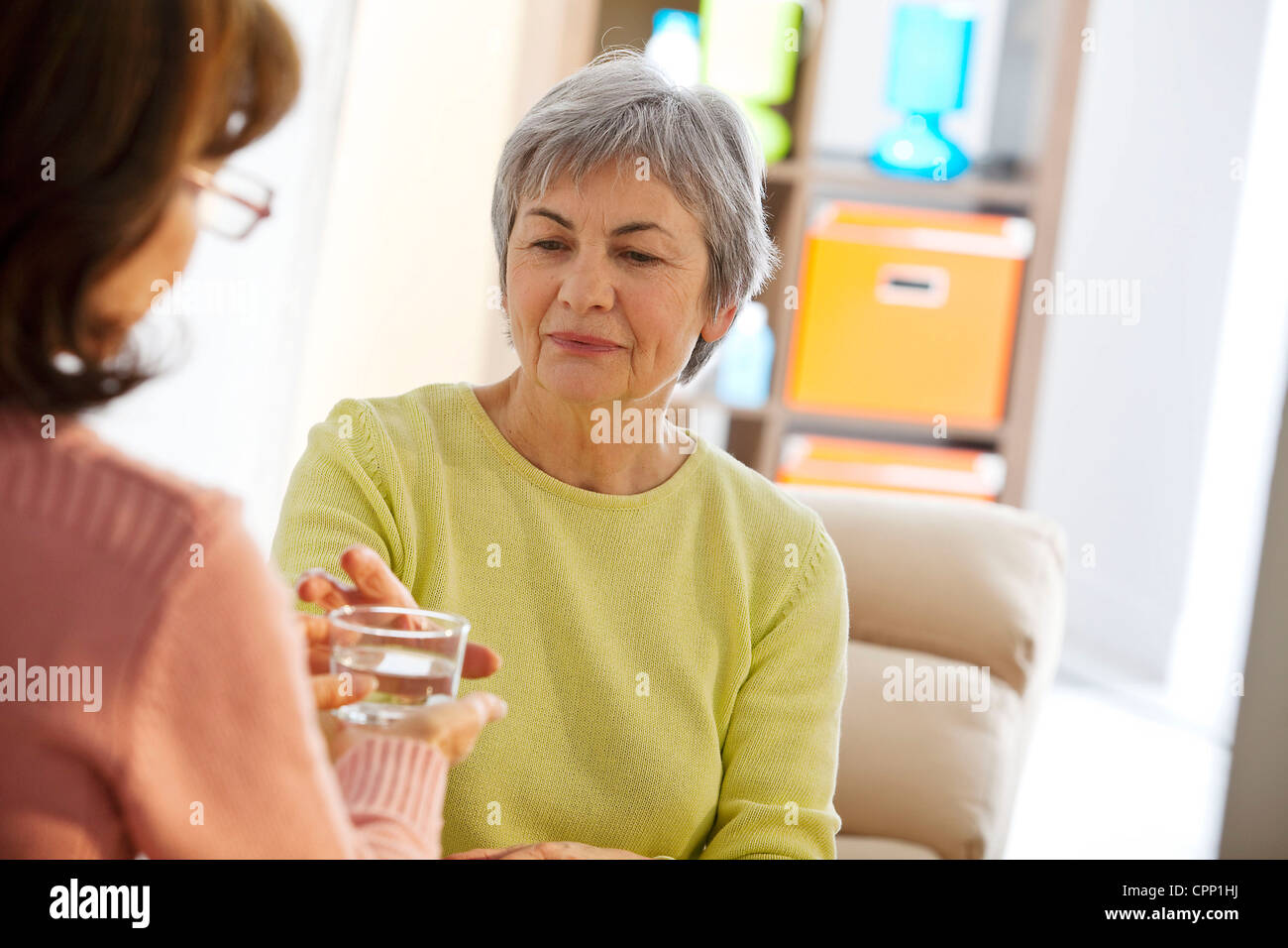 SOCIAL AID FOR ELDERLY PERSON - Stock Image