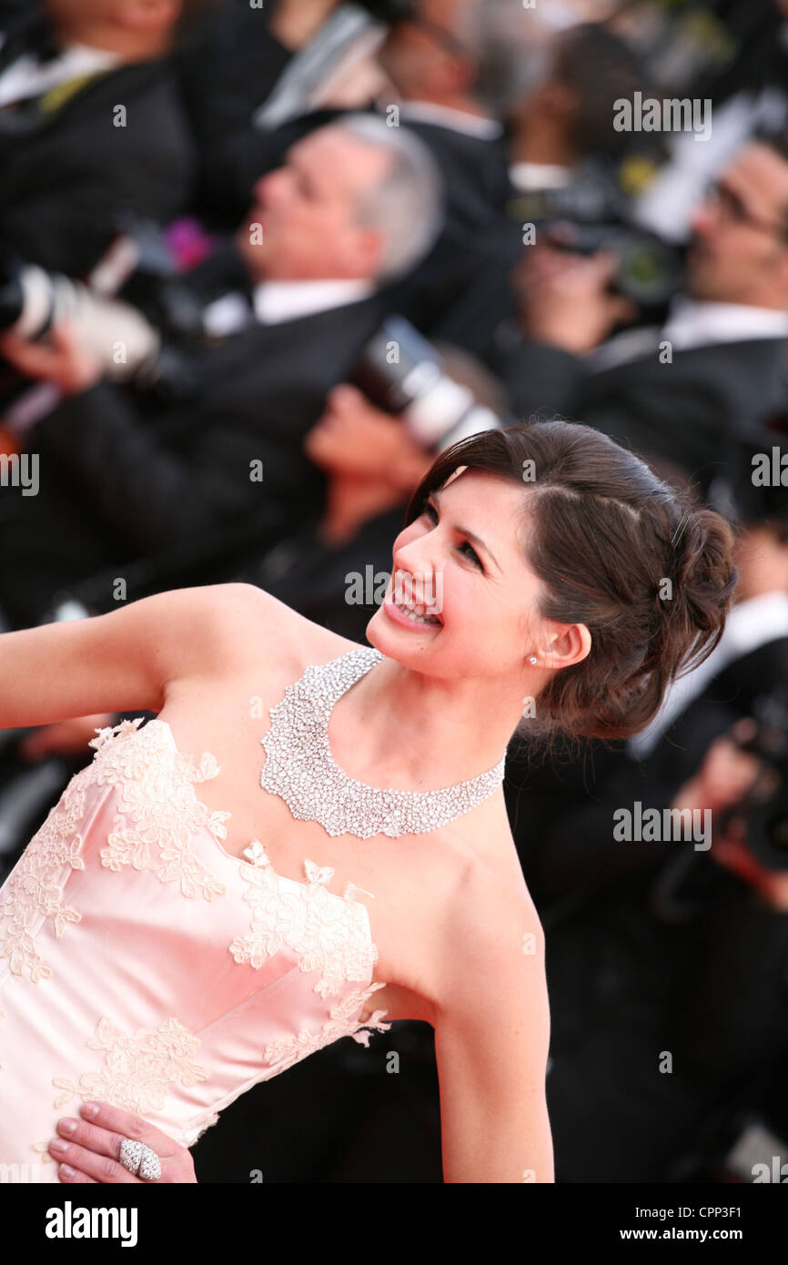 Delphine Chanéac, Actress at the gala screening Madagascar 3: Europe's Most Wanted at the 65th Cannes Film - Stock Image