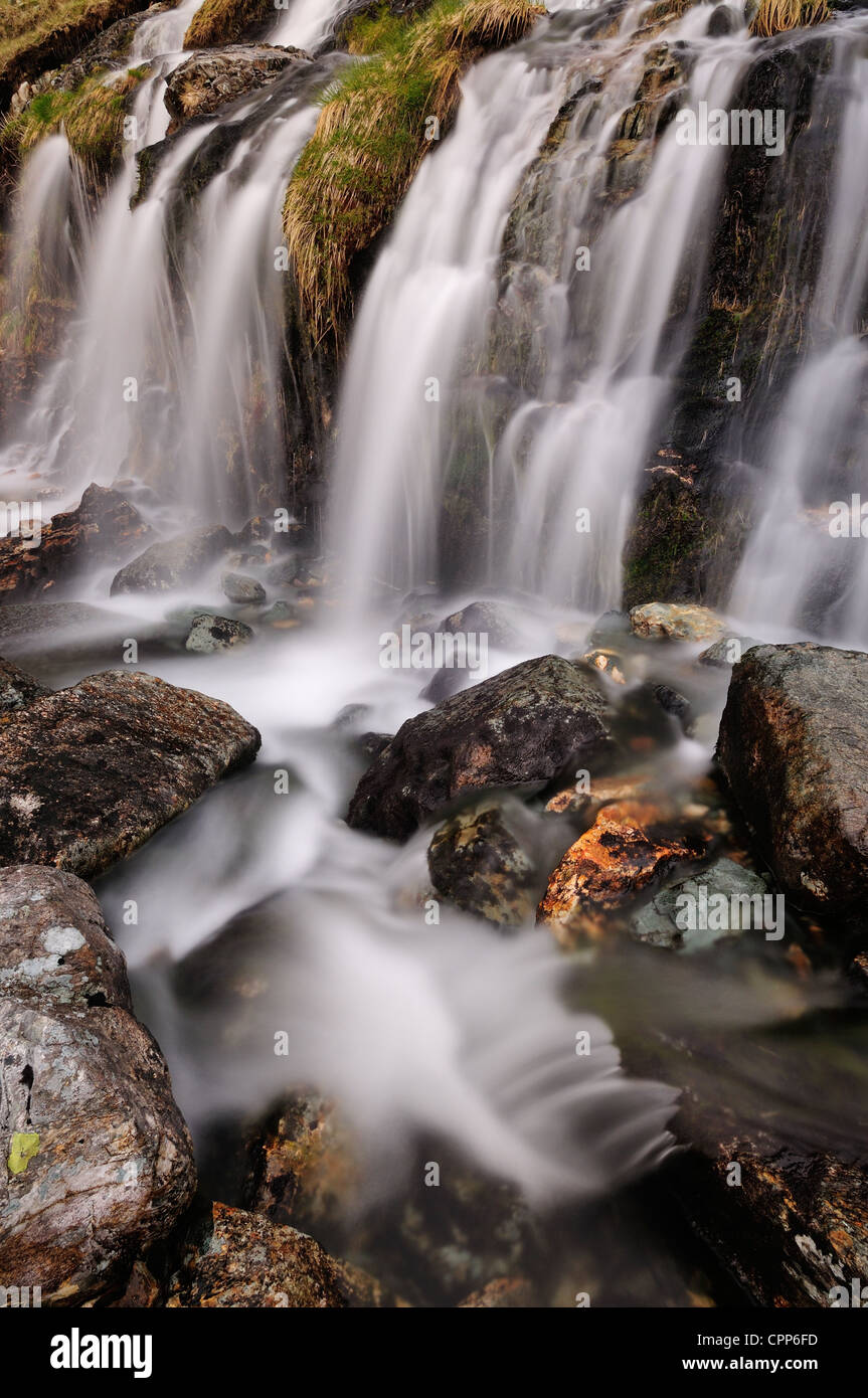 Levers Waterfall near Coniston in the English Lake DIstrict - Stock Image