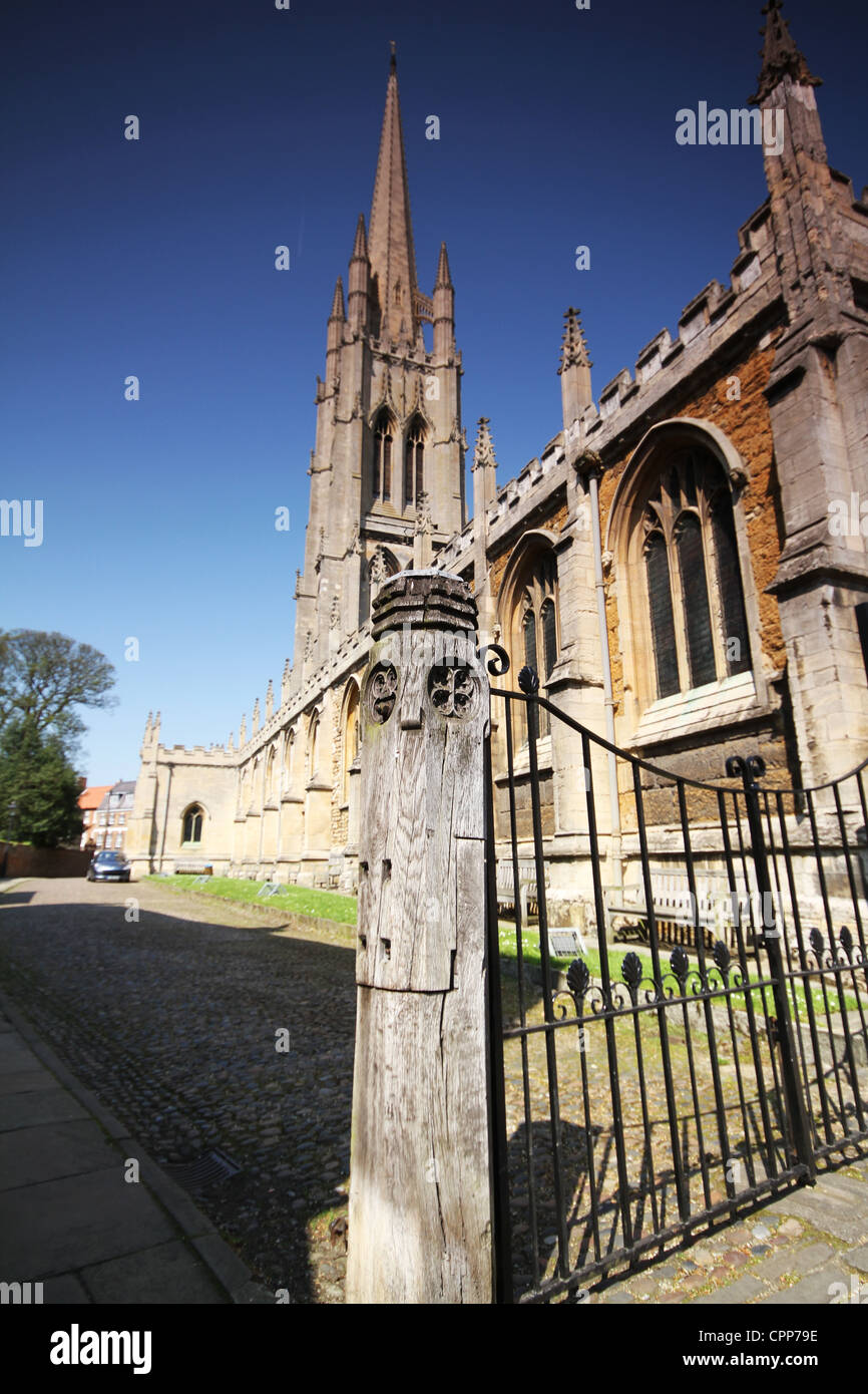 Louth Church Lincolnshire Spire Steeple - Stock Image