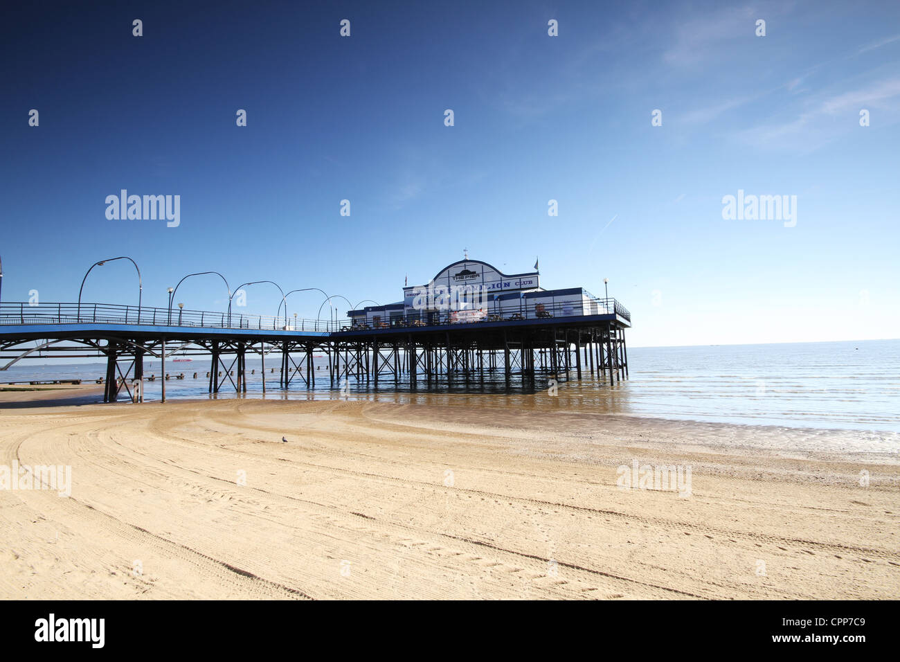 Cleethorpes Pier The Coast of Lincolnshire - Stock Image
