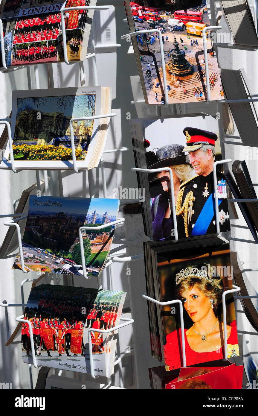 Royal Family postcards for sale, London, England Stock Photo
