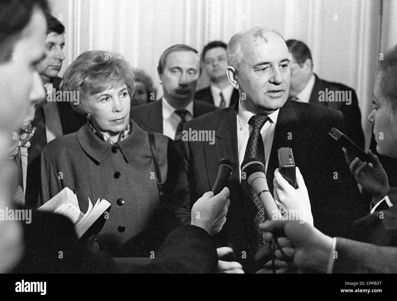 May 10, 1994 - St. Petersburg, Russia - May 10,1994.First USSR president Mikhail Gorbachev with his spouse Raisa - Stock Image