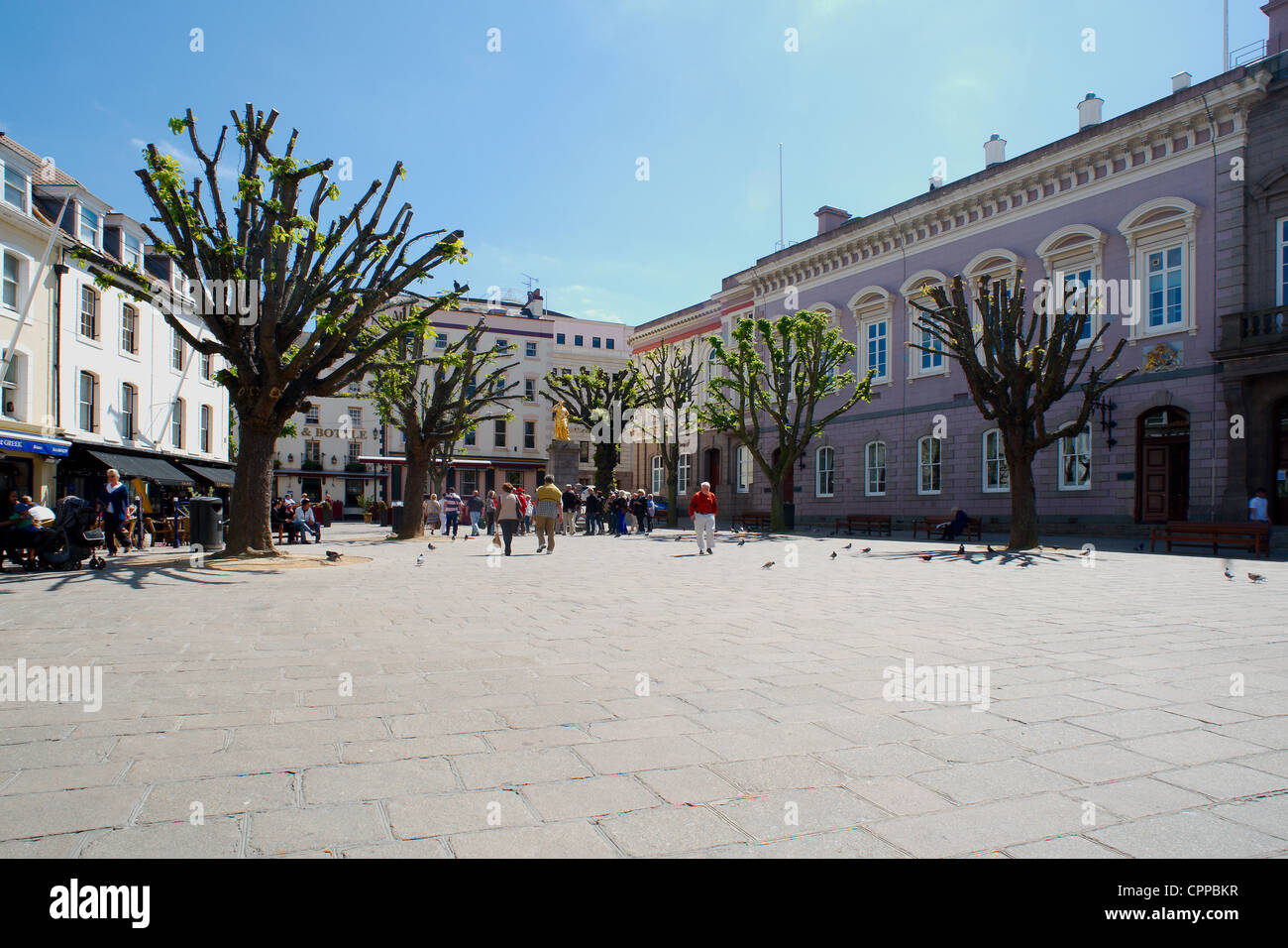 Royal Square, St. Helier, Jersey, Channel Islands - Stock Image