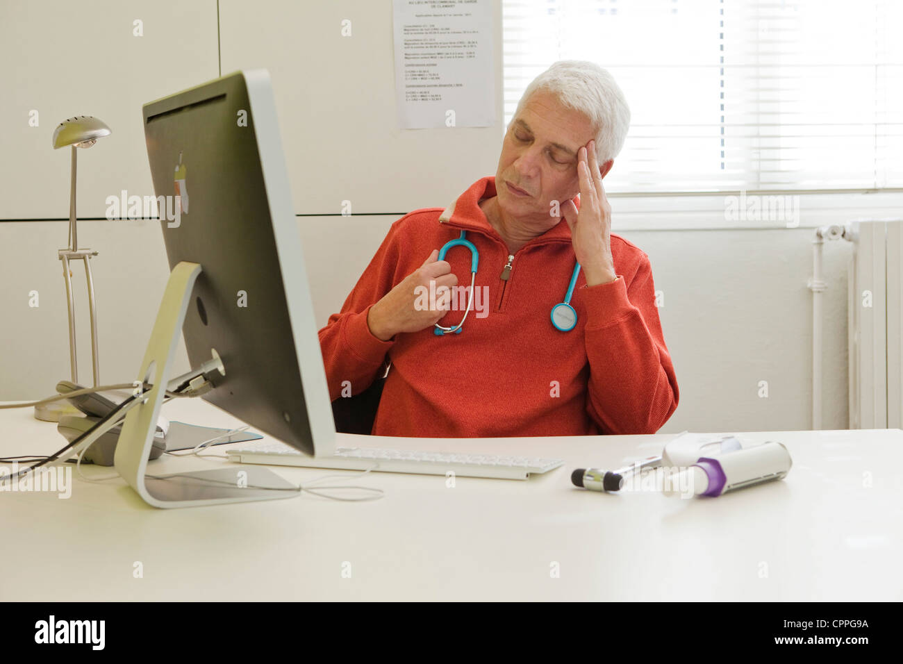 DOCTOR'S OFFICE - Stock Image