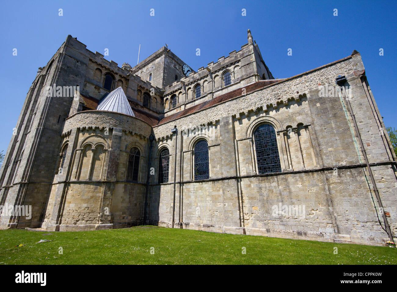 romsey abbey hampshire england - Stock Image