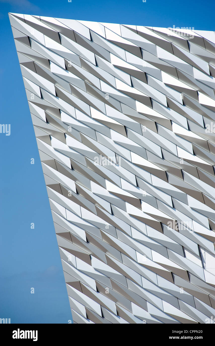 Cladding on the new Titanic Museum, Belfast. - Stock Image