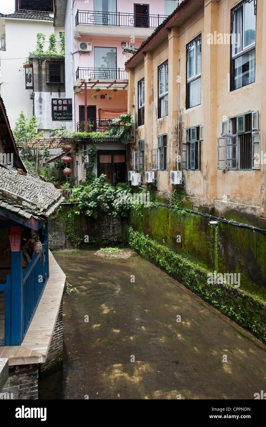A street scene in Yangshuo China Stock Photo