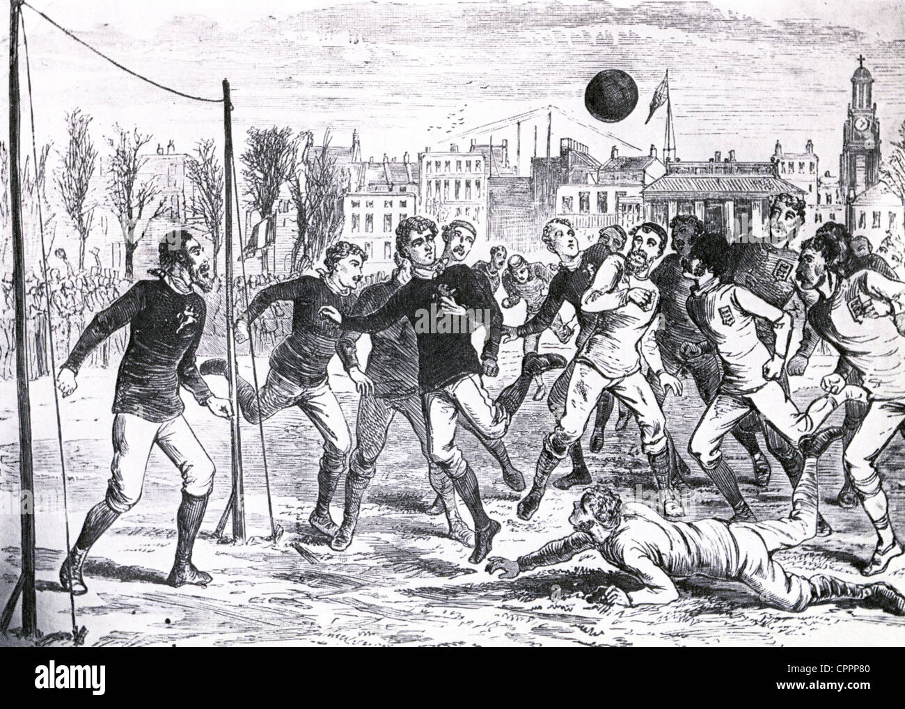 FOOTBALL: 1878 England v Scotland at the Oval which Scotland won 7-2 - Stock Image