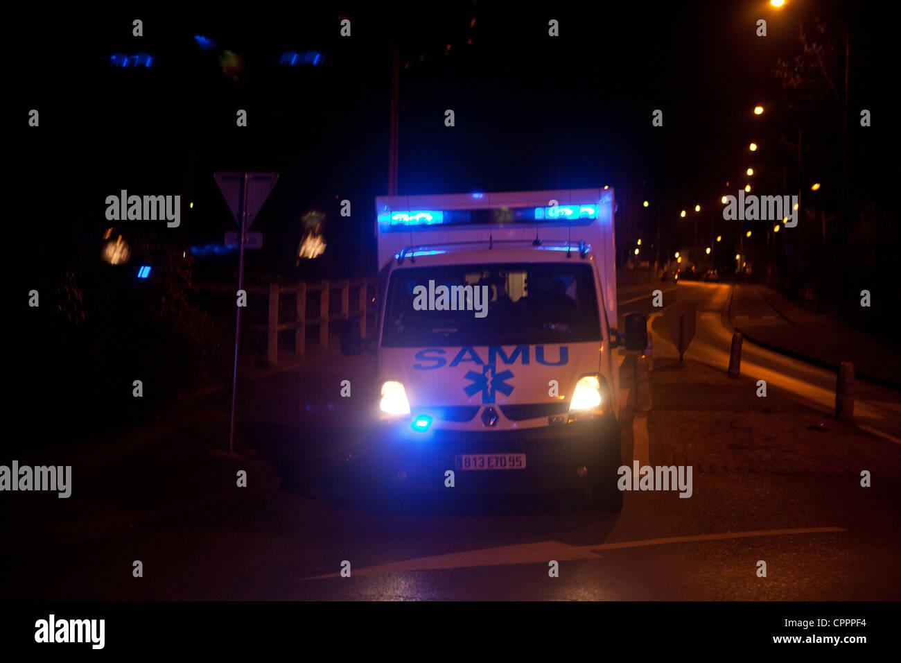 EMERGENCY TRANSPORTATION - Stock Image