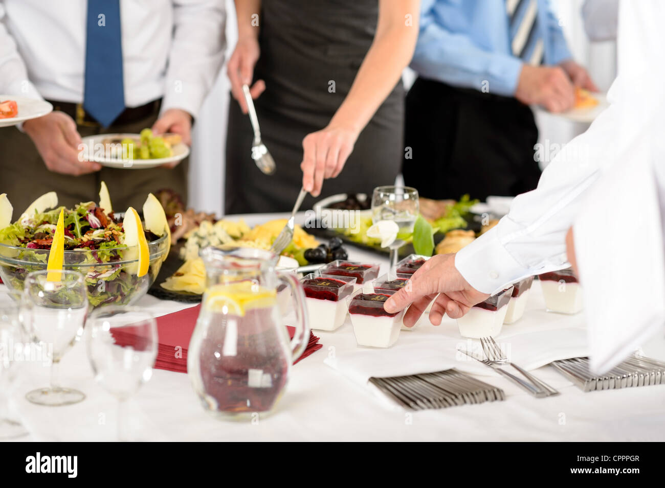 Business catering food for company formal celebration close-up - Stock Image