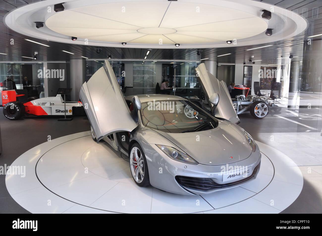 McLaren MP4-12C in London Showroom - Stock Image