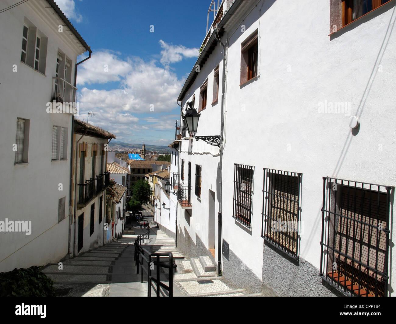Spain Andalusia Granada The Albaycin The Moorish quarter Stock Photo