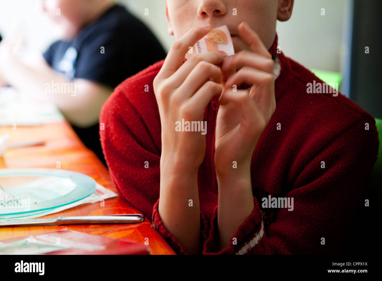AUTISTIC CHILD - Stock Image