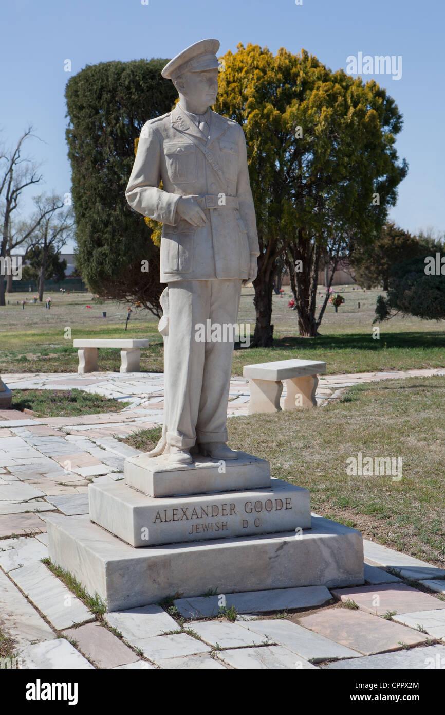 Alexander Goode, Llano Cemetery, Amarillo, Texas. - Stock Image