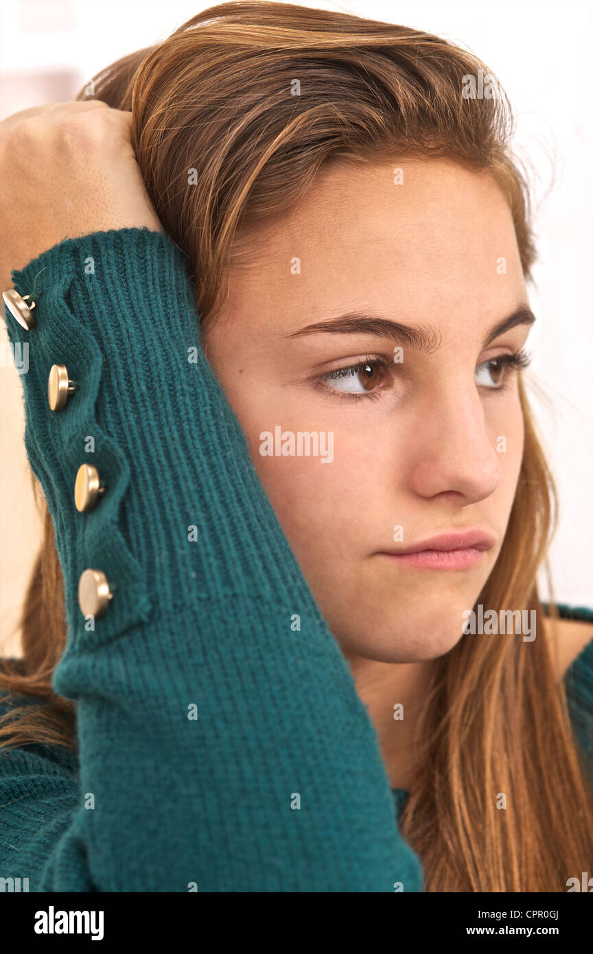 WEARY ADOLESCENT - Stock Image