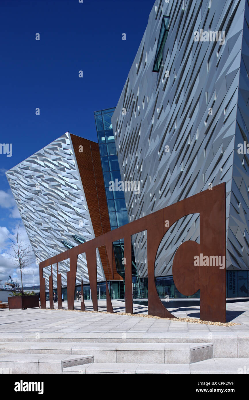 Exterior of Titanic Belfast Signature Project - Stock Image