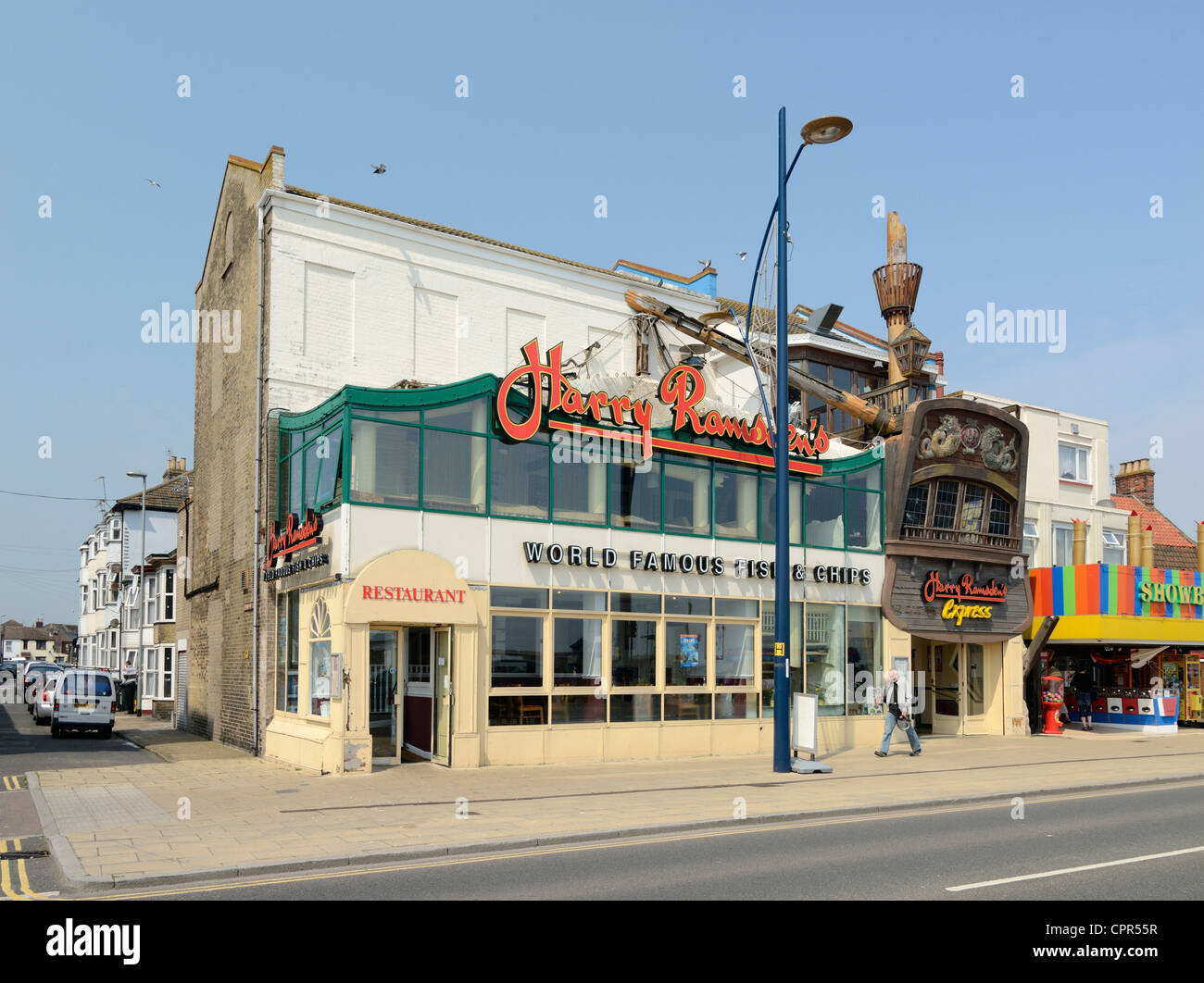 Harry Ramsden's Fish and Chip Shop Great Yarmouth UK Stock Photo