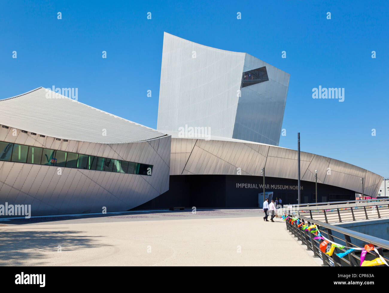 Imperial war museum north  salford quays manchester england GB UK EU Europe - Stock Image