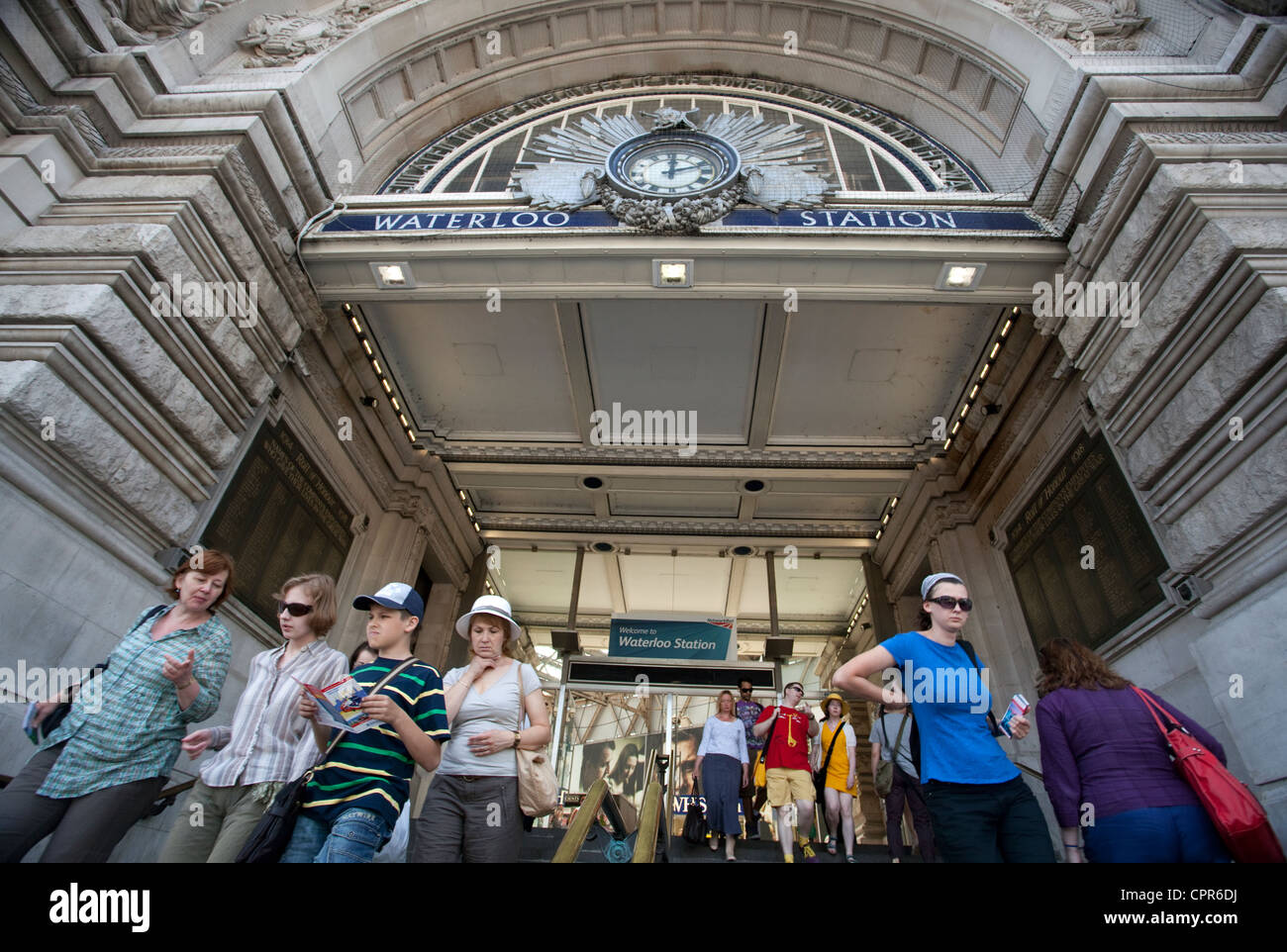 Main entrance to Waterloo Station, London - Stock Image