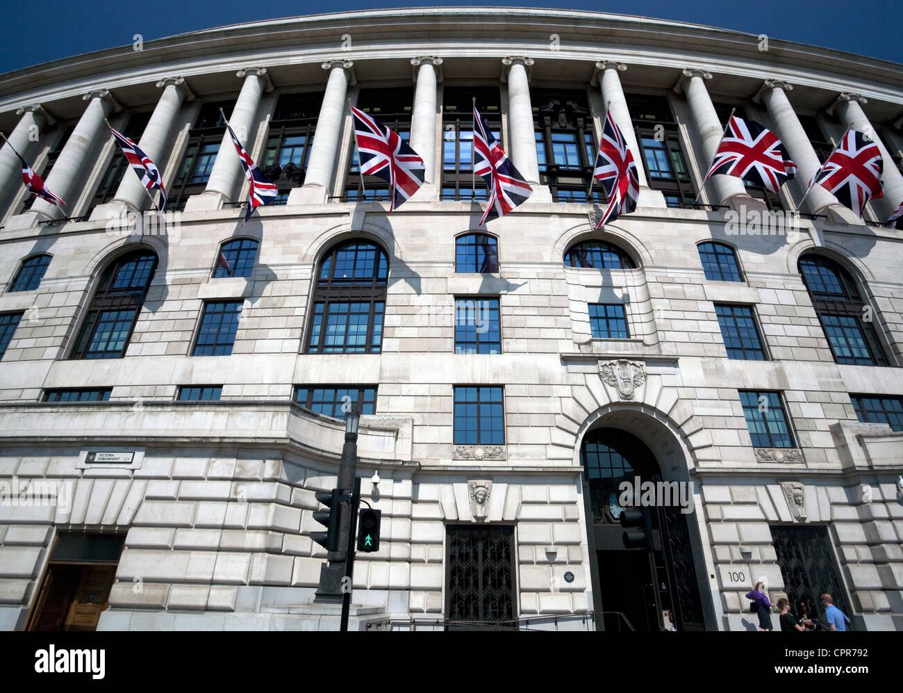 Unilever House, Victoria Embankment, London - Stock Image