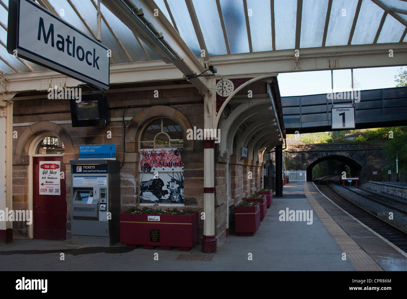 Matlock Train Station, Matlock, Derbyshire, Peak District, England, UK - Stock Image