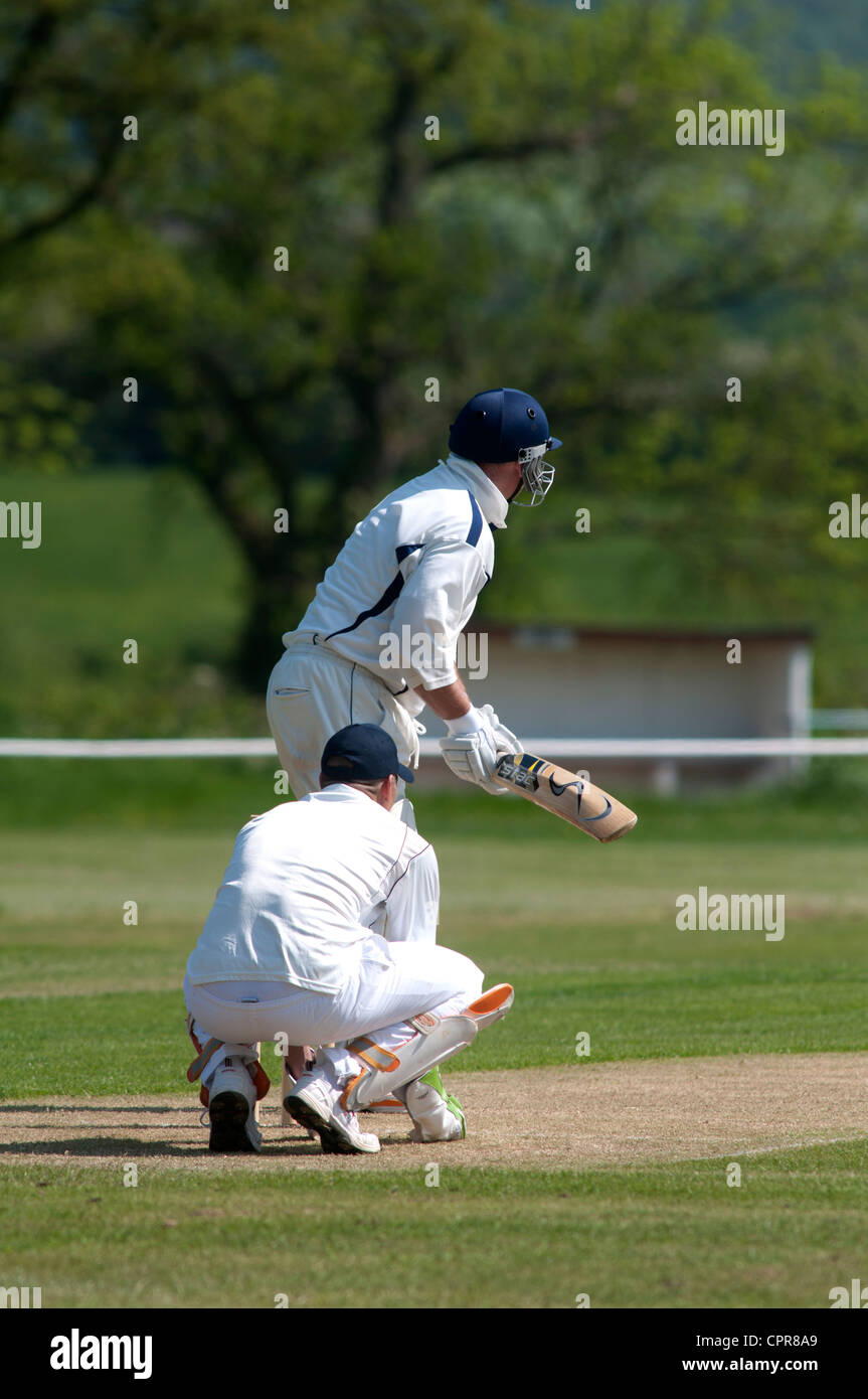 Village cricket at Henley-in-Arden - Stock Image
