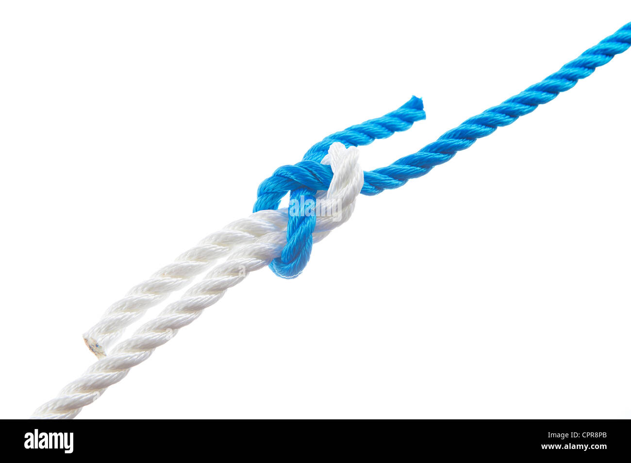 Sheet bend isolated on white background - Stock Image