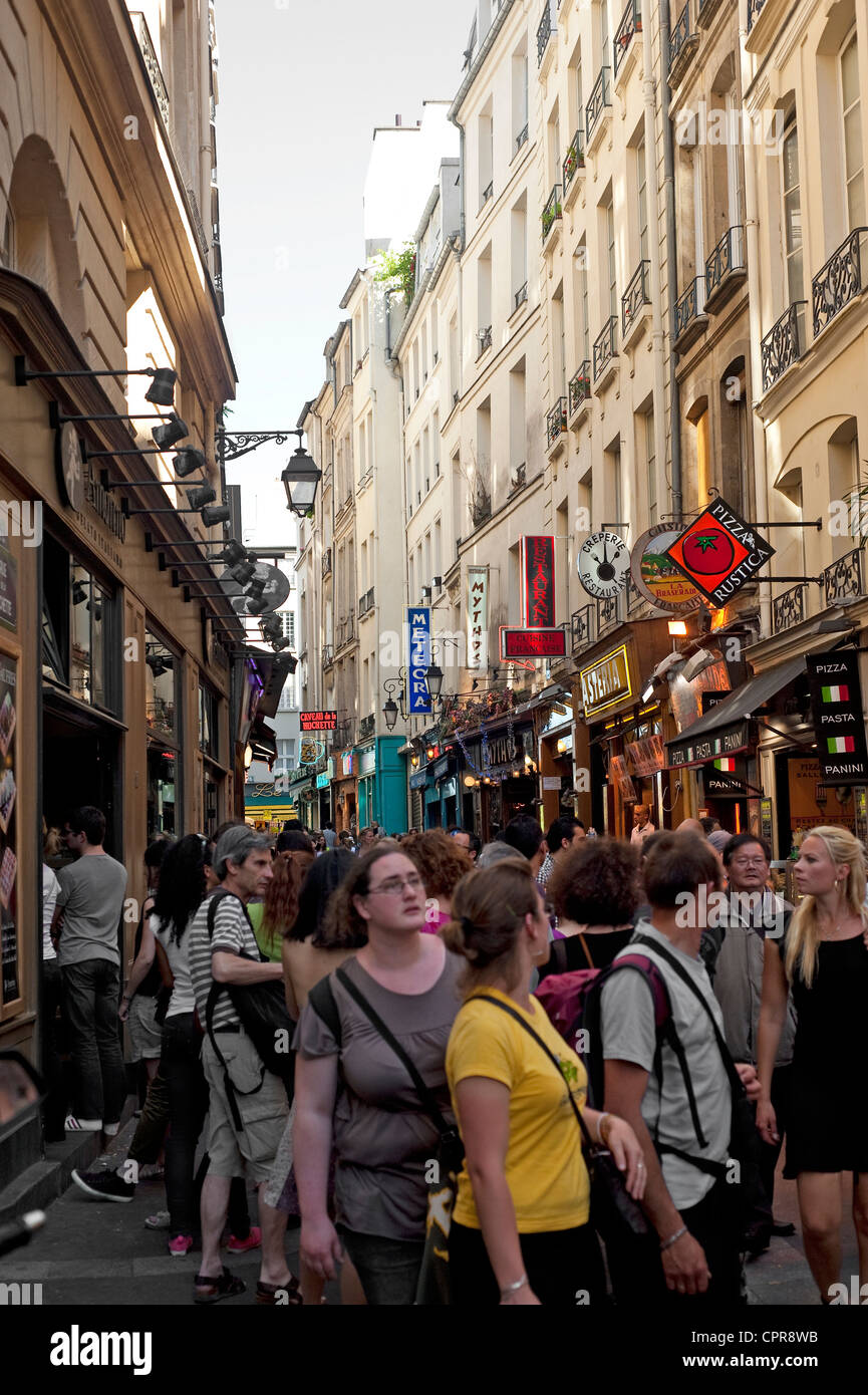 Paris, France - The Latin district in the 5th arrondissement - Stock Image