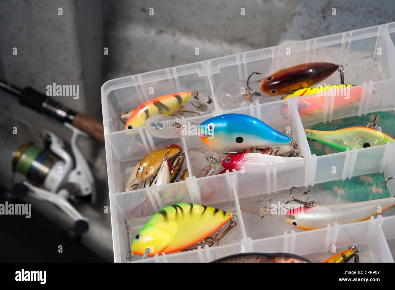 Colourfull box of tile fishing Stock Photo: 48455147 - Alamy